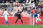 Granada CF's Jose Antonio Martinez  and Real Club Deportivo de la Coruña's Domingos Duarte (L) and David Simon (R) during La Liga 2 match. February 10,2019. (ALTERPHOTOS/Alconada)