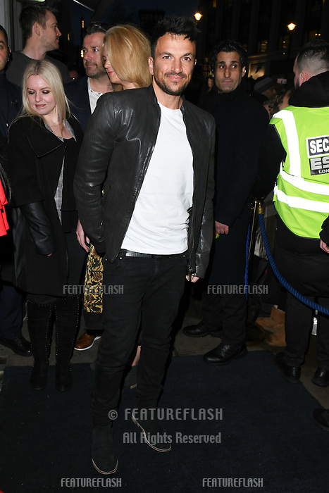 Peter Andre arriving for James Ingham's Jog on to Cancer 2018 at Cafe de Paris, London, UK. <br /> 04 April  2018<br /> Picture: Steve Vas/Featureflash/SilverHub 0208 004 5359 sales@silverhubmedia.com