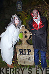 Pictured at the Halloween Festival in Knocknagoshel on Sunday night were Deirdre Bell, Knocknagoshel and Geoffrey (Dracula) Decarp, France.