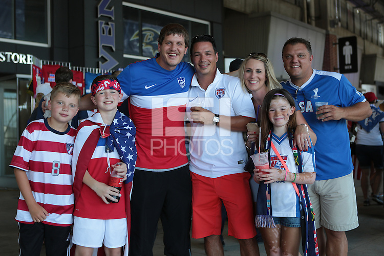 Baltimore, Maryland - Saturday, July 18, 2015: The US Men's National team play Cuba during quarter final play in the 2015 Gold Cup at M&T Bank Stadium.