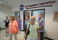 Alumni take a tour of JPL in Pasadena. Occidental College alums enjoy a long weekend of activities and festivities both on campus and off during Alumni Reunion Weekend, June 21, 2013. JPL is a federally funded research and development center managed for NASA by Caltech, although many Oxy alums work there.<br />