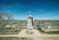 Photos from the Wounded Knee memorial and the Pine Ridge Reservation in South Dakota, Saturday, May 11, 2013. <br /> <br /> Photo by Matt Nager