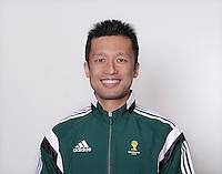 FUSSBALL Fototermin FIFA WM Schiedsrichterassistenten 09.04.2014 Toru SAGARA (Japan)