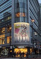 The popular retail shop Forever 21 in Shinjuku, Tokyo................