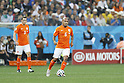 Nigel de Jong (NED),<br /> JULY 9, 2014 - Football / Soccer :<br /> FIFA World Cup 2014 semi-final match between Netherlands 0(2-4)0 Argentina at Arena De Sao Paulo Stadium in Sao Paulo, Brazil. (Photo by AFLO) [3604]