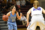 GRAND RAPIDS, MI - MARCH 18: Lauren Dillon (11) of Tufts University gestures to a teammate during the Division III Women's Basketball Championship held at Van Noord Arena on March 18, 2017 in Grand Rapids, Michigan. Amherst defeated 52-29 for the national title. (Photo by Brady Kenniston/NCAA Photos via Getty Images)