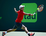 March 28 2017: Kei Nishikori (JPN) defeats Frederico Delbonis (ARG) by 6-3, 4-6, 6-3 at the Miami Open being played at Crandon Park Tennis Center in Miami, Key Biscayne, Florida. ©Karla Kinne/Tennisclix/Cal Sports Media
