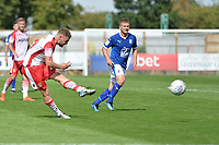Ben Kennedy of Stevenage shoots during Stevenage vs Tranmere Rovers, Sky Bet EFL League 2 Football at the Lamex Stadium on 4th August 2018