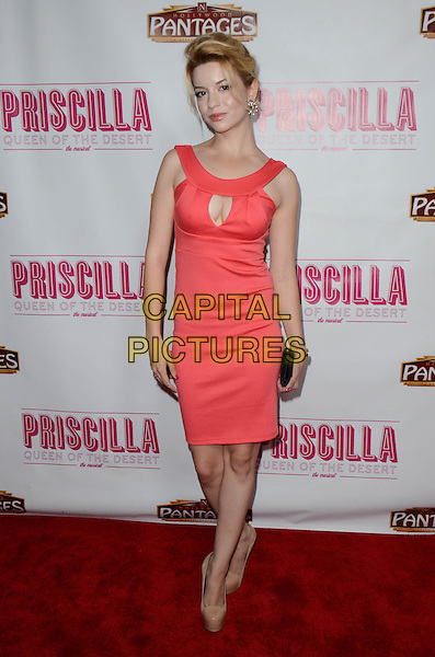 Masiela Lusha<br /> Tony Award-Winning Broadway Musical 'Priscilla Queen Of The Desert&quot; celebrates its L.A. Premiere at Pantages Theatre, Hollywood, California, USA.<br /> May 29th, 2013<br /> full length dress pink cut out away cleavage<br /> CAP/ADM/TW<br /> &copy;Tonya Wise/AdMedia/Capital Pictures