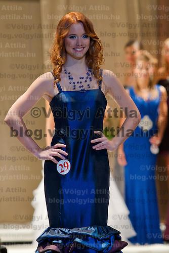 Netti Paszti attends the Miss Hungary 2010 beauty contest held in Budapest, Hungary on November 29, 2010. ATTILA VOLGYI