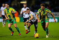Bolton Wanderers' Gary O'Neil battles with West Bromwich Albion's Craig Dawson<br /> <br /> Photographer Alex Dodd/CameraSport<br /> <br /> The EFL Sky Bet Championship - Bolton Wanderers v West Bromwich Albion - Monday 21st January 2019 - University of Bolton Stadium - Bolton<br /> <br /> World Copyright © 2019 CameraSport. All rights reserved. 43 Linden Ave. Countesthorpe. Leicester. England. LE8 5PG - Tel: +44 (0) 116 277 4147 - admin@camerasport.com - www.camerasport.com