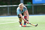 Mannheim, Germany, April 26: During the 1. Bundesliga Damen match between Mannheimer HC (red) and Uhlenhorster HC (light blue) on April 26, 2015 at Mannheimer HC in Mannheim, Germany. Final score 1-2 (0-2). (Photo by Dirk Markgraf / www.265-images.com) *** Local caption *** Roda Mueller-Wieland #14 of Uhlenhorster HC