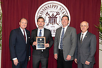 Ralph E. Powe award recipient, Wes Schilling wtih President Keenum, Dr. Bohach, and Dr. Shaw.<br />  (photo by Beth Wynn / &copy; Mississippi State University)