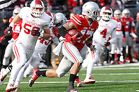 Ohio State Buckeyes running back Jalin Marshall (17) gains yards  in the third  quarter of their game at Ohio Stadium in Columbus, Ohio on November 22, 2014. (Columbus Dispatch photo by Brooke LaValley)