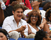 FLUSHING NY- SEPTEMBER 10: Dr Mehmet Oz, Gail King are sighted watching Angelique Kerber Vs Karolina Pliskova during the womens finals on Arthur Ashe Stadium at the USTA Billie Jean King National Tennis Center on September 10, 2016 in Flushing Queens. Credit: mpi04/MediaPunch