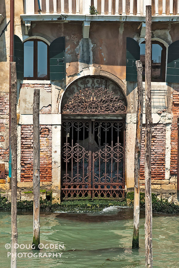 Front door on the Grand Canal, Venice, Italy