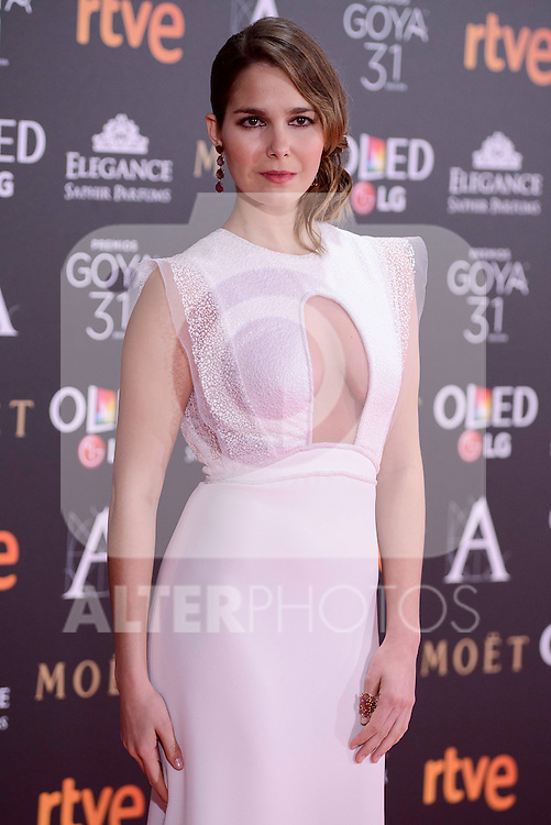 Natalia Sanchez attends to the Red Carpet of the Goya Awards 2017 at Madrid Marriott Auditorium Hotel in Madrid, Spain. February 04, 2017. (ALTERPHOTOS/BorjaB.Hojas)