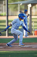 AZL Royals Enrique Valdez (4) at bat during an Arizona League game against the AZL White Sox at Camelback Ranch on June 19, 2019 in Glendale, Arizona. AZL White Sox defeated AZL Royals 4-2. (Zachary Lucy/Four Seam Images)