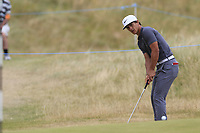 Thorbjorn Olesen (DEN) putts onto the 2nd green during Saturday's Round 3 of the 2018 Dubai Duty Free Irish Open, held at Ballyliffin Golf Club, Ireland. 7th July 2018.<br /> Picture: Eoin Clarke | Golffile<br /> <br /> <br /> All photos usage must carry mandatory copyright credit (&copy; Golffile | Eoin Clarke)