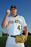 Feb 28, 2010; Bradenton, FL, USA; Pittsburgh Pirates  pitcher Evan Meek (47) during  photoday at Pirate City. Mandatory Credit: Tomasso De Rosa/ Four Seam Images