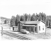 D&amp;RGW Cumbres section house from northwest corner, with order board post, but no blades.<br /> D&amp;RGW  Cumbres, CO