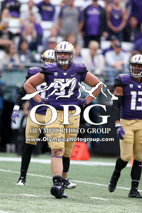 03 September 2016:  Washington's John Clark against Rutgers.  Washington defeated Rutgers 48-13 at the University of Washington in Seattle, WA.