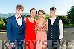 Enjoying the Killarney Schools Debs at Ballyroe Heights Hotel on Monday were l-r  Murt O'Shea, Lianne O'Callaghan, Shannon O'Sullivan and Fergal O'Donoghue