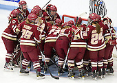 - The Boston College Eagles defeated the Harvard University Crimson 4-2 in the 2012 Beanpot consolation game on Tuesday, February 7, 2012, at Walter Brown Arena in Boston, Massachusetts.