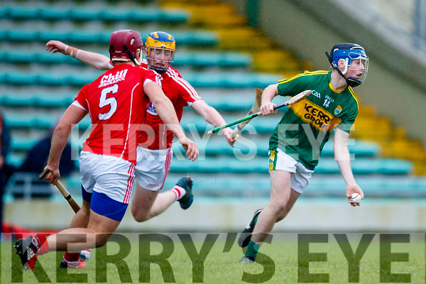Shane Conway Kerry  in action against Rickard Cahalane Cork in the Co-op Superstores Munster Senior Hurling League on Sunday 14th January in Austin Stack Park, Tralee.