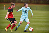 20171123 - TUBIZE , BELGIUM : Belgian Laura Deloose (L) pictured during a friendly game between the women teams of the Belgian Red Flames and Russia at complex Euro 2000 in Tubize , Thursday  23 October 2017 ,  PHOTO Dirk Vuylsteke | Sportpix.Be