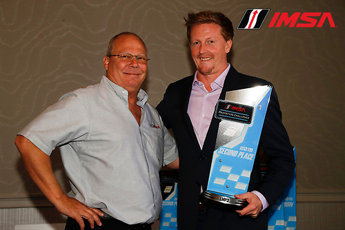 2nd place finisher #43 Robillard Racing Norma M30, LMP3: Stevan McAleer with Todd Snyder of IMSA