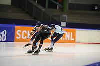 SCHAATSEN: HEERENVEEN: IJsstadion Thialf, 04-02-15, Training World Cup, Haralds Silovs (LAT), ©foto Martin de Jong