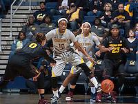Berkeley, CA - January 16, 2015: California Golden Bears' 52-67 loss against Arizona State Sun Devils during NCAA Women's Basketball game at Haas Pavilion.