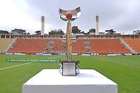 SÃO PAULO, SP, 10 DE JUNHO DE 2012 - FINAL DA COPA DO BRASIL DE FUTEBOL FEMININO: Taça durante partida São José E.C. x Centro Olimpico, válida pela Final da Copa do Brasil de Futebol Feminino em jogo realizado na manhã deste <br /> <br /> domingo (10) no Estádio do Pacaembú. FOTO: LEVI BIANCO - BRAZIL PHOTO PRESS