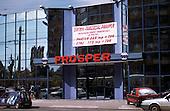 Bucharest, Romania. New modern mirrored shopping centre the Prosper Centrul Comercial.