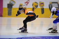 SCHAATSEN: HEERENVEEN: 31-01-2014,  IJsstadion Thialf, Training Topsport, Annouk van der Weijden, ©foto Martin de Jong
