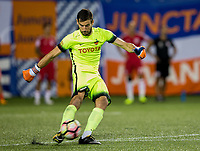 Cincinnati, OH - Tuesday August 15, 2017: Mitch Hildebrandt during a 2017 U.S. Open Cup game between FC Cincinnati vs New York Red Bulls at Nippert Stadium.