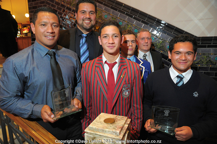 The Representative Team of the Year, Wellington Under-16s, at the Wellington Rugby Union Tui Awards at the Embassy Theatre, Wellington, New Zealand on Tuesday, 30 October 2012. Photo: Dave Lintott / lintottphoto.co.nz