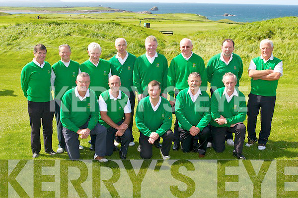 GOLF: The Tralee Golf Club team who played in the Dr Billy O'Sullivan Shield final at the Barrow course on Saturday front l-r: Jim O'Connor, Denis Murphy, Pat Walsh, Pat O'Meara (team manager) and Richard Barrett (team manager). Back l-r:Eddie Enright (club captain), Domnic Foley, Tony Cahill, Noel Barrett, Billy Myles, Mike Brosnan, Bob O'Brien and Denis Lyons.