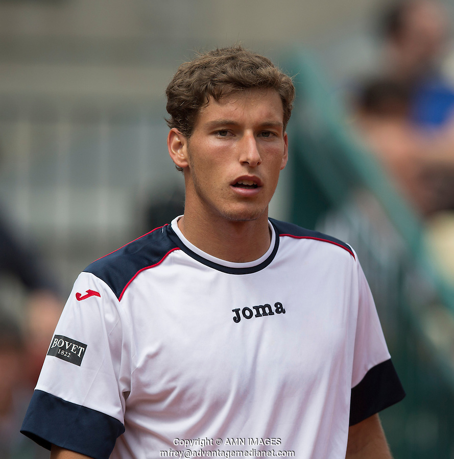 PABLO CARRENO BUSTA (ESP)<br /> <br /> Tennis - French Open 2014 -  Toland Garros - Paris -  ATP-WTA - ITF - 2014  - France -  25 May 2014. <br /> <br /> &copy; AMN IMAGES