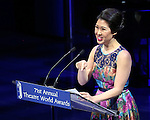 Ruthie Ann Miles during the The 71st Annual Theatre World Awards presentation  at The Lyric Theatre on June 1, 2015 in New York City.
