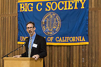 OAKLAND, CA - November 4, 2016: 2016 Inductee Brent Burns speaks at the Big C Society 31st Annual Hall of Fame Banquet at the Greek Orthodox Cathedral.