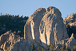 Twin Owls, rock, formation, Lumpy Ridge, scenic, October, fall, autumn, evening, Estes Park, Colorado, Rocky Mountain National Park, USA