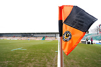 A general view of corner flag at Rodney Parade prior to kick off of the Fly Emirates FA Cup Fourth Round match between Newport County and Tottenham Hotspur at Rodney Parade, Newport, Wales, UK. Saturday 27 January 2018