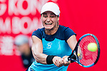 Monica Niculescu of Romania competes against Ons Jabeur of Tunisia during the singles first round match at the WTA Prudential Hong Kong Tennis Open 2018 at the Victoria Park Tennis Stadium on 09 October 2018 in Hong Kong, Hong Kong. Photo by Yu Chun Christopher Wong / Power Sport Images