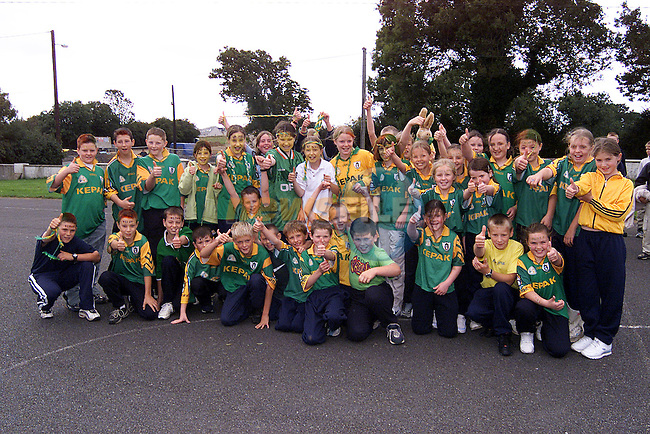 Children from Stamullen NS who are supporting Meath this Sunday..Picture: Paul Mohan/Newsfile