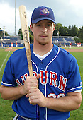 September 3, 2003:  Erik Kratz of the Auburn Doubledays, Class-A affiliate of the Toronto Blue Jays, during a game at Dwyer Stadium in Batavia, NY.  Photo by:  Mike Janes/Four Seam Images
