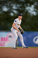 Trenton Thunder shortstop Kyle Holder (6) during an Eastern League game against the New Hampshire Fisher Cats on August 20, 2019 at Arm & Hammer Park in Trenton, New Jersey.  New Hampshire defeated Trenton 7-2.  (Mike Janes/Four Seam Images)