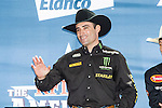 Guilherme Marchi at the press conference before the Iron Cowboy V event at the AT & T stadium in Arlington, Texas.