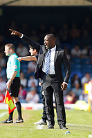 Southend United manager, Chris Powell directs his team during the Sky Bet League 1 match between Southend United and MK Dons at Roots Hall, Southend, England on 21 April 2018. Photo by Carlton Myrie.